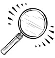doodle magnifying glass vector image vector image