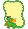 dragon frame vector image vector image