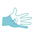 drawing hand man palm showing five finger vector image vector image