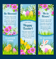 easter banners for paschal greetings vector image vector image