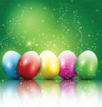 easter egg background 2302 vector image vector image