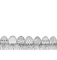easter eggs grass vector image vector image