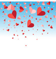festive bright background for valentines day vector image