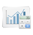 Finance Graph and Calculator vector image vector image