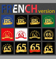 french set of number 65 templates vector image