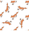 funny foxes seamless pattern for your design vector image vector image