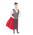 groom wearing a red superhero cloak vector image