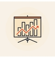 Growing graph presentation icon vector image vector image