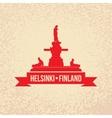 havis amanda symbol of helsinki finland vector image vector image