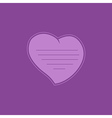 heart on purple background vector image vector image