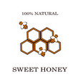 honey and bee labels for honey logo products vector image