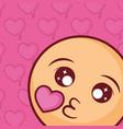 kiss emoji icon vector image
