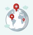 location target travel destination navigation vector image vector image