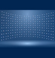 luxury blue studio room background vector image vector image