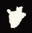 map burundi isolated black vector image vector image