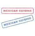 mexican cuisine textile stamps vector image vector image