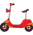 motor scooter vector image vector image