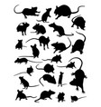 mouse silhouette vector image