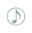 Musical note icon with hand drawn lines texture vector image vector image