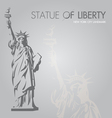new york silhouette symbol vector image