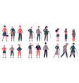 people in seasonal clothes adult elderly vector image