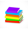 pile colorful books vector image vector image