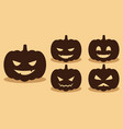 pumpkin silhouette with difference faces vector image vector image