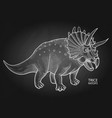 realistic graphic dinosaur vector image vector image