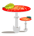Red Mushroom - Amanita vector image