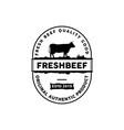 retro vintage beef emblem label logo design inspir vector image