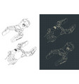 robotic arm isometric drawings