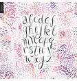 Script alphabet 6 vector image