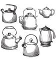 set kettles vector image