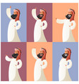 set of muslim cartoon characters4 vector image vector image