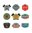 set of vintage carpentry logos vector image vector image