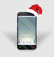 Smartphone merry christmas happy new year screen
