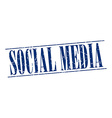 social media blue grunge vintage stamp isolated on vector image vector image