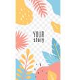 social networks posts floral cover design vector image