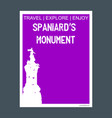 spaniards monument buenos aires argentina vector image
