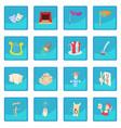 theatre icon blue app vector image vector image