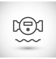 Water meter line icon vector image