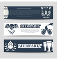 Web banners beer party template set vector image vector image