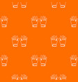 winter gloves pattern seamless vector image vector image