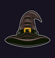 witch hat colorful object in cartoon style vector image