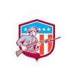 World War One Soldier American Retro Shield vector image