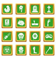 zombie icons set green vector image vector image