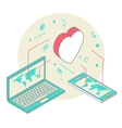 Isometric for Valentines Day vector image