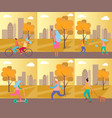 set of pictures sport theme vector image