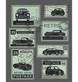 vintage style retro cars vector image