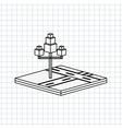 isometric tree icon design vector image